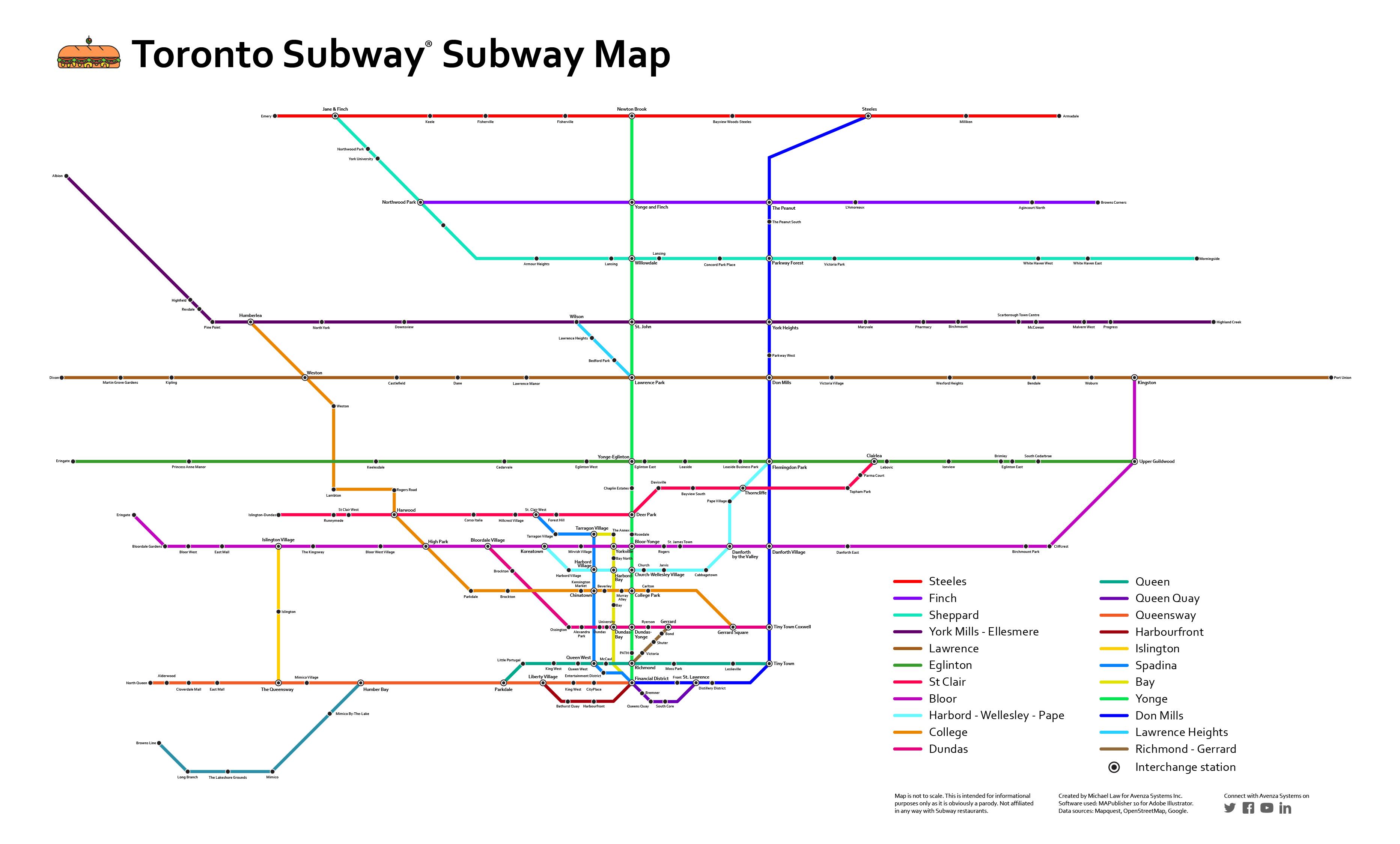 Toronto Subway subway map